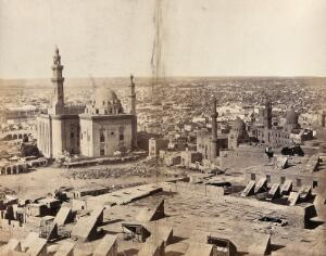 view The Sultan Hasan Mosque, Cairo, Egypt: view from the citadel. Photograph by Francis Frith, ca. 1858.