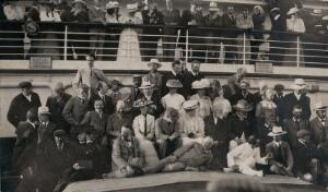 view Members of the British Association on their way to South Africa. Photograph by Mrs C. Henderson, 1905.