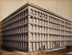 view The A.T. Stewart store, Broadway, New York City. Photograph by Francis Frith, ca. 1880.