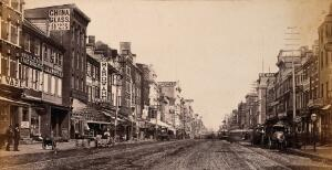 view Market Street, Philadelphia. Photograph by Francis Frith, ca. 1880.