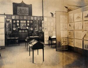 view The 1904 World's Fair, St. Louis, Missouri: an exhibit relating to the Technical School of Stockholm, Sweden. Photograph, 1904.