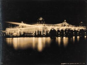 view The 1904 World's Fair, St. Louis, Missouri: the Palace of Electricity by night. Photograph, 1904.