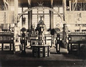 view The 1904 World's Fair, St. Louis, Missouri: an Argentine agricultural exhibit. Photograph, 1904.