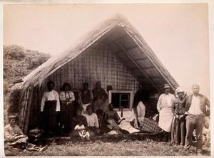 view New Zealand: Maori funeral rites. Albumen print.