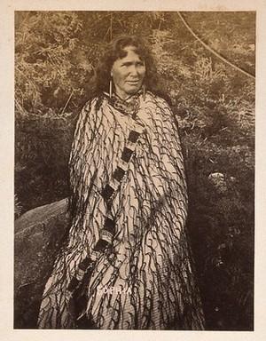 view New Zealand: a Maori woman. Albumen print.