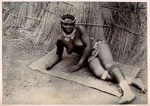 view Africa: an African woman. Albumen print.