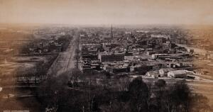 view Washington D.C.: elevated view of the city. Photograph by Francis Frith, ca. 1880.