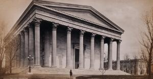 view Girard College, Philadelphia, Pennsylvania: Founder's Hall. Photograph by Francis Frith, ca. 1880.