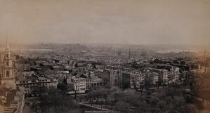 view Boston city centre, Boston, Massachusetts: elevated view. Photograph by Francis Frith, ca. 1880.