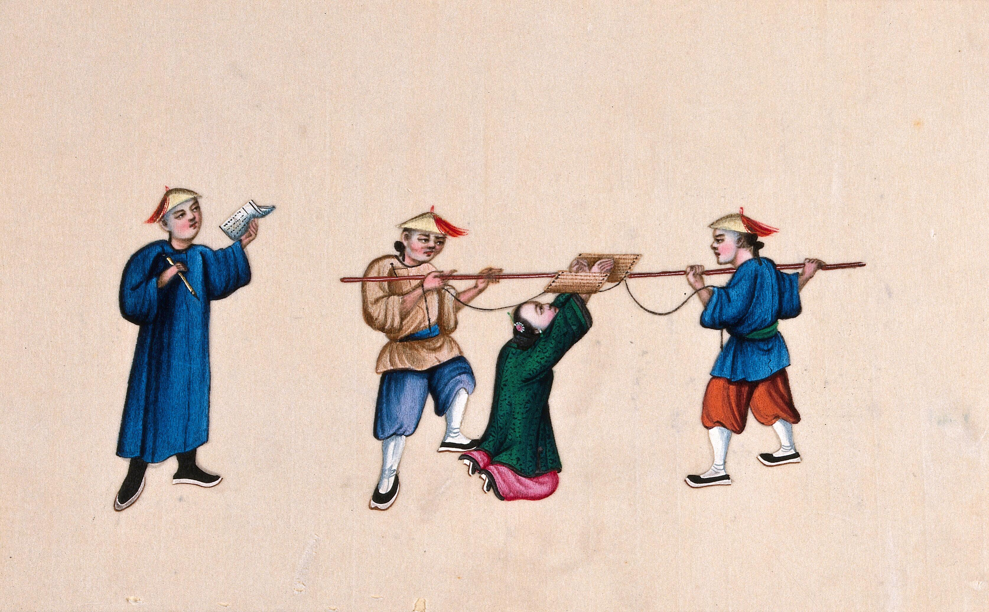 Women tied and tortured