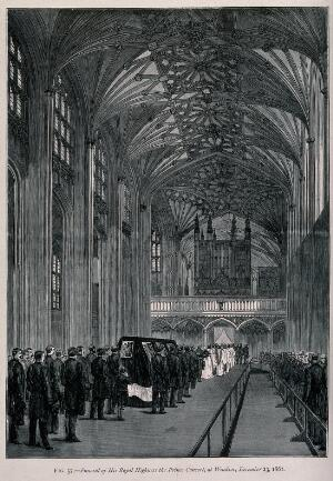view The funeral of His Royal Highness the Prince Consort, at Windsor, December 23, 1861. Wood engraving, 1861.
