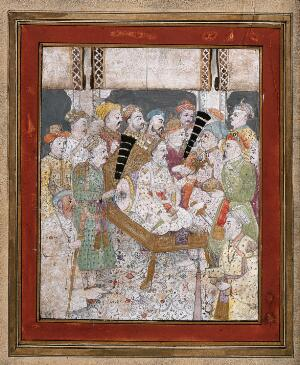 view An imperial court scene. Gouache painting by an Indian artist, ca. 1800.