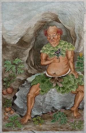 view Shen Nung. Watercolour.