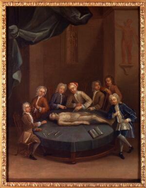 view William Cheselden giving an anatomical demonstration.