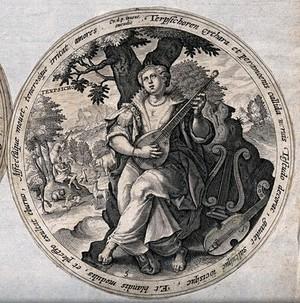 view Terpsichore. Engraving by C. de Passe.