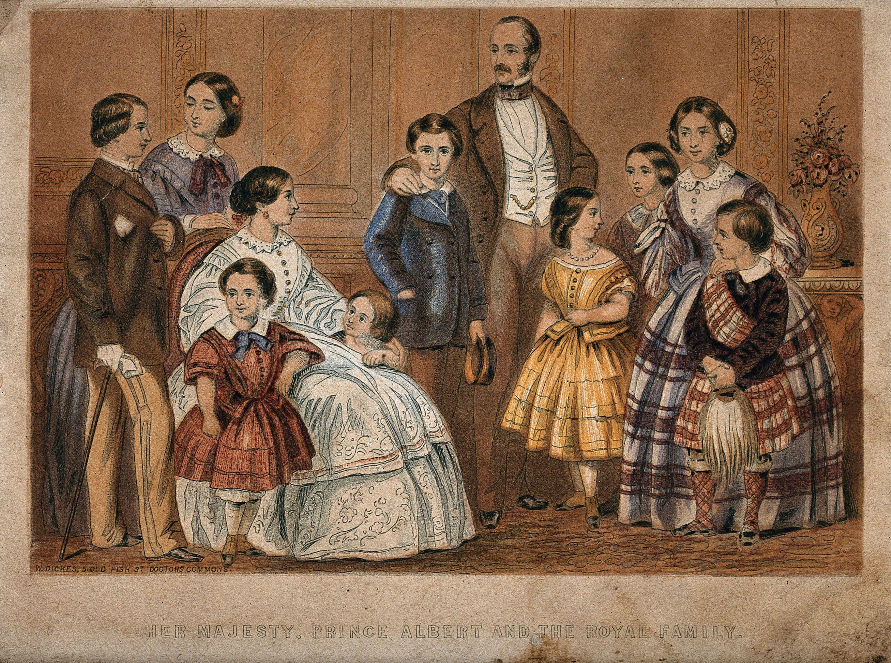 Queen Victoria Prince Albert And Their Children