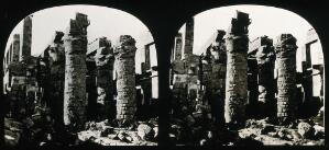 view The Hall of Columns, Karnac, Egypt; stereoscopic views. Photograph by Francis Frith, 1856/1859.