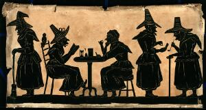 view Witches: five silhouetted figures.