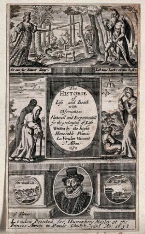 view The arts of Minerva reduce the power of Time to end life, but death from old age or from plague still exists. Engraving by G. Glover, 1639.