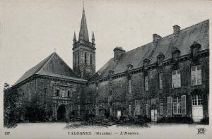 view The hospice in Valognes, France. Photographic postcard, ca. 1910.