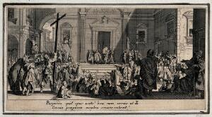 view Christ presented to the people. Etching with engraving by Jacques Callot.