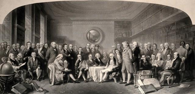 Distinguished British men of science 1807-1808 assembled in