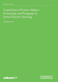 view Acquisition of Science Subject Knowledge and Pedagogy in Initial Teacher Training : report to the Wellcome Trust / by Roger Lock, David Salt and Allan Soares, University of Birmingham.