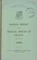view [Report of the Medical Officer of Health for Southwark, Borough of].