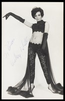 view Vicky White in drag (?). Process print, 197-.