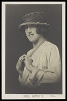view Reg Wright in drag. Photographic postcard by Dyche, 19--.
