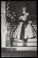 view A sailor in drag on S.S. Caronia. Photograph, 195-.