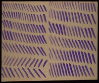 view Diagonals: seven rows (left) and six rows (right). Watercolour by M. Bishop, ca. 1977.