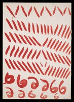 view Hooks, diagonals and V-shapes. Watercolour by M. Bishop, ca. 1975.