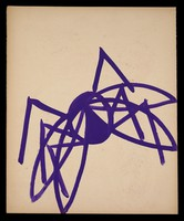 view A purple insect. Watercolour by M. Bishop, 1967.