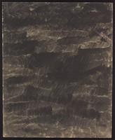 view Rough black waves. Watercolour by M. Bishop, 1958.