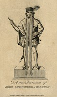 view Johann Staininger, a man with a very long beard. Line engraving, 1814.