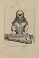view Barbara van Beck, a hirsute woman. Etching, 1813.