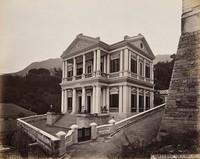 view Hong Kong: Freemasons' Hall in Zetland Street. Photograph by W.P. Floyd, ca. 1873.