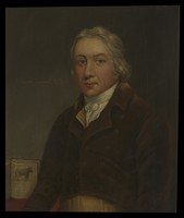 view Edward Jenner. Oil painting.