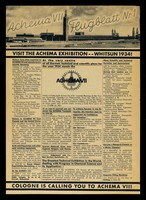view Achema VII : Feugblatt Nr. 1 / Fr. Hildebrandt.