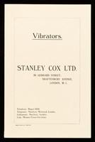 view Vibrators / Stanley Cox Ltd.