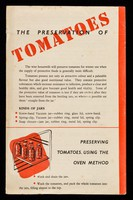 view The preservation of tomatoes / Ministry of Food.