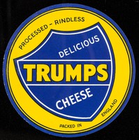 view Delicious Trumps cheese : processed, rindless : packed in England.