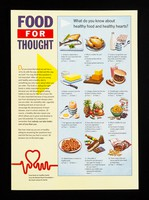 view Food for thought... : food facts for healthy hearts from the British Heart Foundation, the heart research charity / written, designed and produced by Burnett Associates ; illustrated by Val Sassoon.