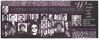 view The faces of Latin American men and women of New York united in their support against AIDS by the New York State Health Department. Colour lithograph.