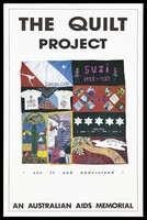 view Panels from the Australian AIDS Memorial Quilt. Colour lithograph.