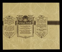 view Ovaltine tonic food beverage : a dainty, delicious and sustaining beverage, an excellent restorative and body-builder : sample package / [A. Wander Limited].
