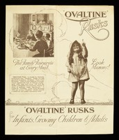 view 'Ovaltine' rusks for infants, growing children & adults / A. Wander Ltd.