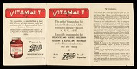 view Vitamalt : the perfect vitamin-food for infants, children and adults : Rich in the essential vitamins A, B, C and D : Especially recommended for delicate and ailing children, nursing & expectant mothers and in all cases of malnutrition and low vitality / Boots Pure Drug Company.