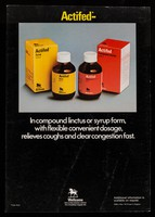 view The prompt, potent way to relieve coughs and clear congestion : Actifed compound linctus / Wellcome Nigeria Ltd.